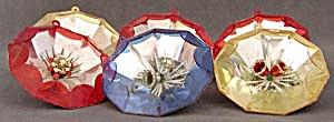 Vintage Jewel Brite 3-D Scene Christmas Ornaments (Image1)