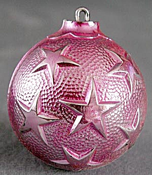 Vintage Plastic Embossed Ball Christmas Ornaments (Image1)