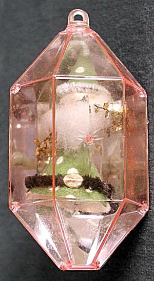 Vintage Pink Plastic Christmas Ornament Elf (Image1)
