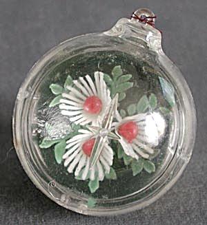 Vintage Plastic Ball Christmas Ornaments Set of 4 (Image1)