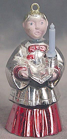 Vintage Choir Boy With Candle Christmas Ornament