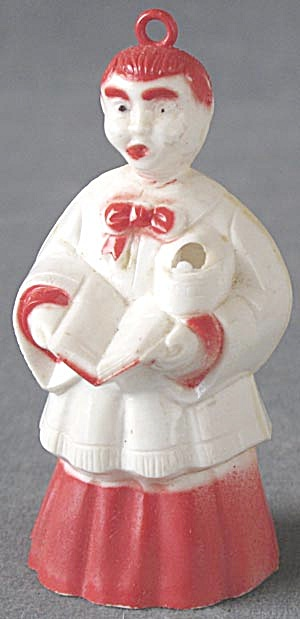 Vintage Plastic Choir Boy Candy Container