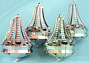 Vintage Plastic Chandelier Christmas Ornaments