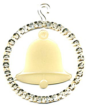 Vintage Glow in the Dark Plastic Bell Circle Ornament (Image1)