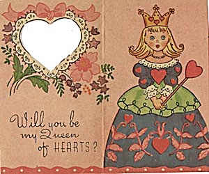 Vintage Valentine Card: Queen