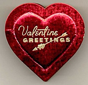 Vintage Petite Heart Valentine Greetings Candy Box