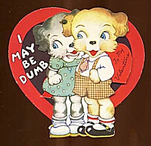 Vintage Valentine: Girl & Boy Puppies