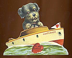 Vintage Valentine: Puppy On A Ship