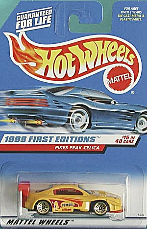 Hot Wheels #652 Pikes Peak Celica Yellow