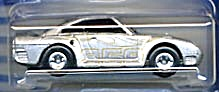 Hot Wheels T-hunt Silver Porsche 959