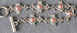 Vintage Orange Link Bracelet (Image1)
