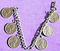 Vintage Copper Penny Bracelet 1960s (Image1)