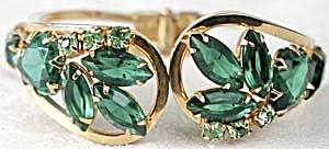 Vintage Green Stone Hinged Bracelet (Image1)