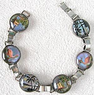 Butterfly Wing Bracelet Flamingos, Sailboats & Palms (Image1)