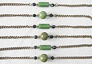 Vintage Deco Bakelite Beaded and Chain Necklace (Image1)