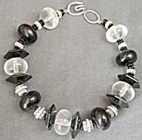 Vintage Acrylic & Black Necklace (Image1)