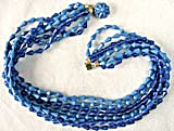 Vintage Blue Plastic 8 Strand Necklace (Image1)