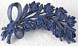Vintage Plastic Blue Flower Pin