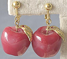 Apple Clip Earrings