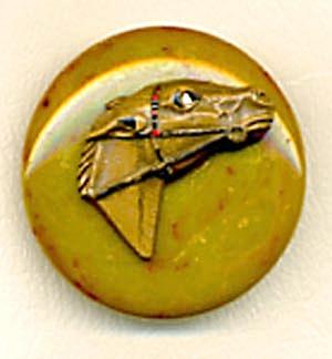 Vintage Bakelite Horse Head Pin (Image1)