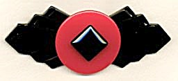 Vintage Bakelite Red & Black Pin (Image1)