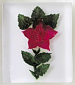 Vintage Lucite Red Rose Piece (Image1)
