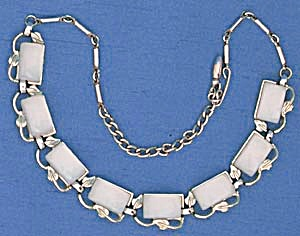 Vintage Pale Blue Moonglow Necklace (Image1)