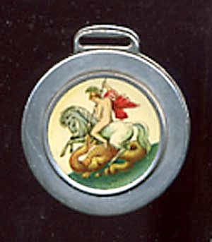 Vintage Apollo Killing Serpent Celluloid Watch Fob (Image1)