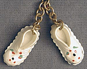 Vintage Pair of Plastic Baby Shoe Charms (Image1)