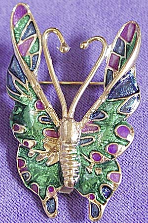 Clorful Butterfly Pin (Image1)