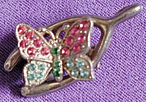 Vintage Wishbone and Butterfly Pin (Image1)