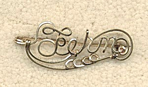 Vintage Wire Name Pin: Fern