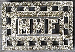 Vintage Initial Rhinestone brooch (Image1)