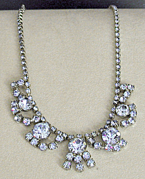 Vintage Blue Rhinestone Necklace (Image1)
