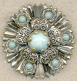 Vintage Silver-tone and Faux Turquoise Pin (Image1)