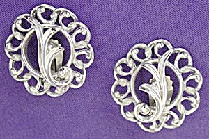 Vintage Sarah Coventry Silver Clip Earrings (Image1)