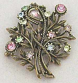 Vintage Large Flower Pastel Coro Pin (Image1)