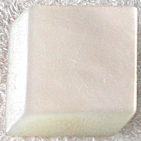 Vintage Mother Of Pearl Cube Pin (Image1)