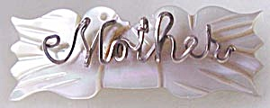 Vintage Wire Name Pin Mother with 2 Doves (Image1)