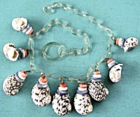 Vintage Celluloid Seashell Necklace