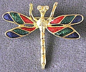 Vintage Enamel Dragonfly Pin (Image1)