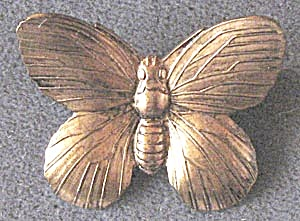 Vintage Brass Butterfly Pin