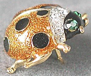 Rhinestone Ladybug Brooch (Image1)
