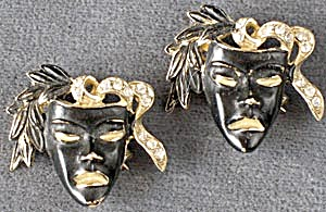 Vintage Comedy Tragedy Mask Scatter Pins