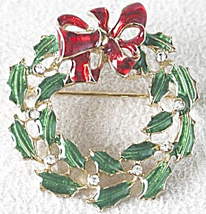 Christmas Wreath Pin (Image1)