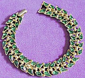 Vintage Trifari Emerald Green Bracelet (Image1)