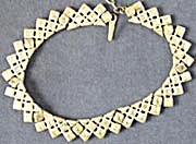 Vintage Goldtone Geometric Necklace (Image1)
