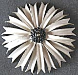 Vintage Sandor Enamel White Flower Pin (Image1)