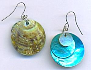 Vintage Turquise Shell Earings (Image1)