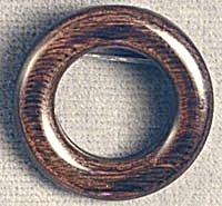 Vintage Wooden Circle Pin (Image1)